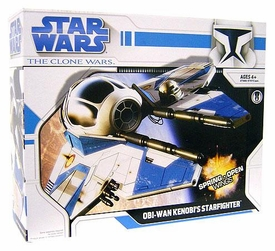 Star Wars Clone Wars Animated Series Vehicle Obi-Wan Kenobi's Starfighter [Blue Trim]