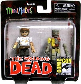 Walking Dead Minimates 2012 SDCC San Diego Comic Con Exclusive 2-Pack Rick Grimes & Zombie