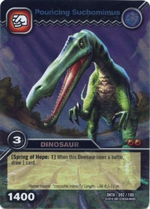 Dinosaur King Time Warp Adventures Single Card Colossal Rare DKTA-092 Pouncing Suchomimus