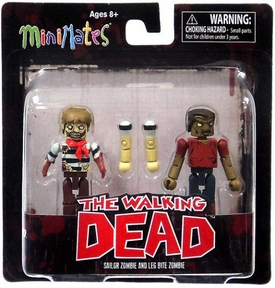 Walking Dead Minimates Series 2 Mini Figure 2-Pack Sailor Zombie & Leg Bite Zombie