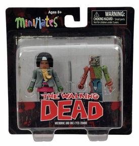 Walking Dead Minimates Series 2 Mini Figure 2-Pack Michonne & One-Eyed Zombie