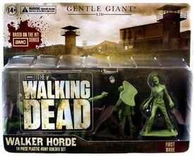 Walking Dead Gentle Zombie Walker Horde [14 Piece Plastic Army Builder Set]