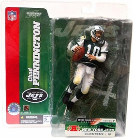 McFarlane Toys NFL Sports Picks Series 7 Action Figure Chad Pennington (New York Jets) Green Jersey Variant
