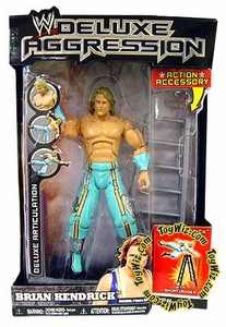 WWE Wrestling DELUXE Aggression Series 14 Action Figure Brian Kendrick with Short Ladder