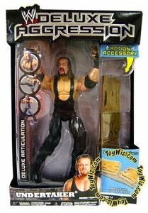 WWE Wrestling DELUXE Aggression Series 14 Action Figure Undertaker with Wooden Plank