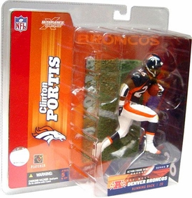 McFarlane Toys NFL Sports Picks Series 7 Action Figure Clinton Portis (Denver Broncos) Blue Jersey