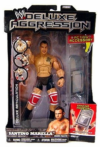 WWE Wrestling DELUXE Aggression Series 17 Action Figure Santino Marrella with Denting Chair