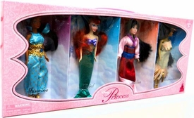 Disney Princess Exclusive 6 1/2 Inch Doll Figure 4-Pack Jasmine, Ariel, Mulan & Pocahontas