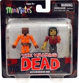 Walking Dead Minimates Series 3 Mini Figure 2-Pack Dexter & Dreadlock Zombie BLOWOUT SALE!