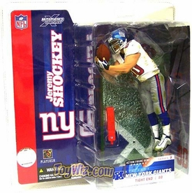 McFarlane Toys NFL Sports Picks Series 7 Action Figure Jeremy Shockey (New York Giants) White Jersey Variant