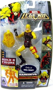 Marvel Legends Exclusive Nemesis Build-A-Figure Wave Action Figure Daredevil [Yellow & Brown Suit]