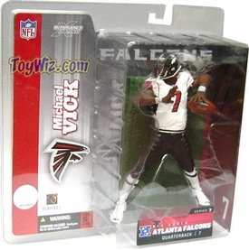 McFarlane Toys NFL Sports Picks Series 7 Action Figure Michael Vick (Atlanta Falcons) White Jersey