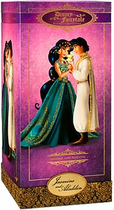 Disney Exclusive 11.5 Inch Fairytale Designer Collection Doll Set Jasmine & Aladdin