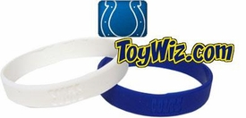Official NFL Team Rubber Bracelet Indianapolis Colts [White] BLOWOUT SALE!