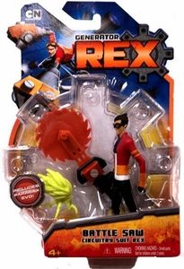 Generator Rex 4 Inch Action Figure Battle Saw Circuitry Suit Rex [Wearing Sunglasses]