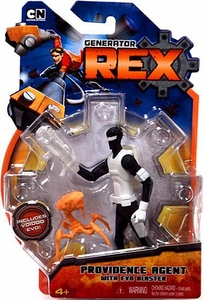 Generator Rex 4 Inch Action Figure Providence Agent [With Evo Blaster]