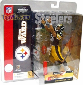 McFarlane Toys NFL Sports Picks Series 7 Action Figure Hines Ward (Pittsburgh Steelers) Black Jersey