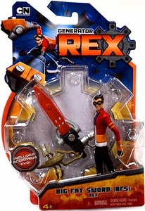 Generator Rex 4 Inch Action Figure Big Fat Sword Rex [Red Shirt]