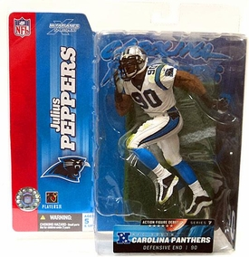 McFarlane Toys NFL Sports Picks Series 7 Action Figure Julius Peppers (Carolina Panthers) White Jersey Variant