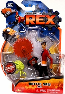 Generator Rex 4 Inch Action Figure Battle Saw Rex [Sunglasses On Top of Head]