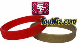 Official National Football League NFL Team Rubber Bracelet San Francisco 49ers [Red]