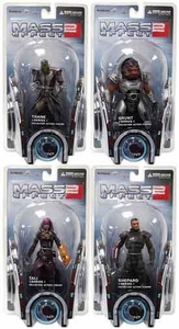 DC Direct Mass Effect 2 Series 1 Set of 4 Action Figures [Grunt, Shepard, Tali & Thane]