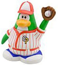 Disney Club Penguin 2 Inch Mini Figure Baseball Player