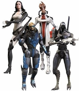 Big Fish Mass Effect 3 Series 2 Set of 4 Action Figures [Garrus, Legion, Miranda & Mordin]