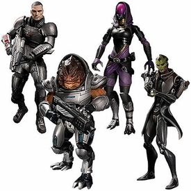 Big Fish Mass Effect 3 Series 1 Set of 4 Action Figures [Grunt, Shepard, Tali & Thane]