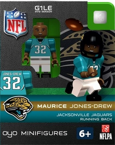 OYO Football NFL Building Brick Minifigure Maurice Jones-Drew  [Jacksonville Jaguars]