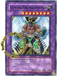 YuGiOh GX Duelist Pack Jaden Yuki 2 Single Card Common DP03-EN011 Elemental Hero Wild Wingman
