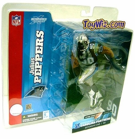 McFarlane Toys NFL Sports Picks Series 7 Action Figure Julius Peppers (Carolina Panthers) Black Jersey Damaged Package, Mint Contents!