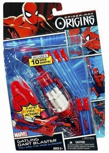 Spider-Man Hasbro Origins Roleplay Toy Gatling Dart Blaster