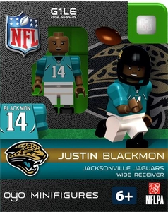 OYO Football NFL Building Brick Minifigure Justin Blackmon   [Jacksonville Jaguars]