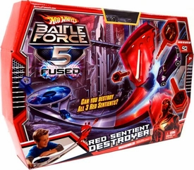 Hot Wheels Battle Force 5 Fused Playset Red Sentient Destroyer