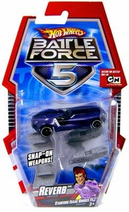 Hot Wheels Battle Force 5 1:64 Scale Die Cast Car Reverb with Blasters