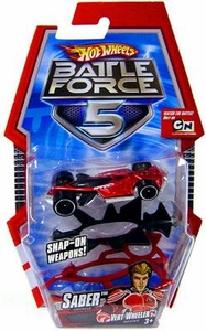 Hot Wheels Battle Force 5 1:64 Scale Die Cast Car Saber with Armor