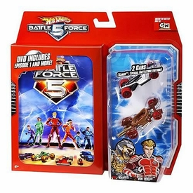 Hot Wheels Battle Force 5 Die Cast Car 2-Pack with DVD
