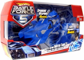 Hot Wheels Battle Force 5 1:18 Scale Big Vehicle & Figure Battle Action Buster Tank with Sherman Cortez