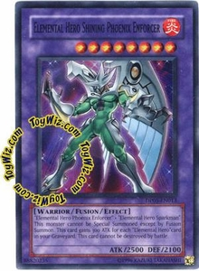 YuGiOh GX Duelist Pack Aster Phoenix Single Card Super Rare DP05-EN013 Elemental Hero Shining Phoenix Enforcer