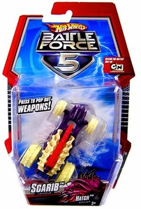 Hot Wheels Battle Force 5 1:43 Scale Mini Battle Car Scarib