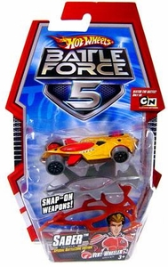 Hot Wheels Battle Force 5 1:64 Scale Die Cast Car Saber with Armor [Special Battlezone Edition]