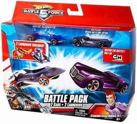Hot Wheels Battle Force 5 1:64 Scale Die Cast 2-Car Battle Pack Water Slaughter & Special Battlezone Edition Reverb [Random Color Cars]