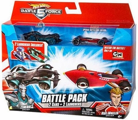 Hot Wheels Battle Force 5 1:64 Scale Die Cast 2-Car Battle Pack Zelix & Special Battlezone Edition Saber [Random Color Cars]