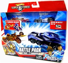 Hot Wheels Battle Force 5 1:64 Scale Die Cast 2-Car Battle Pack Fangore & Special Battlezone Edition Buster Tank[Random Color Cars]
