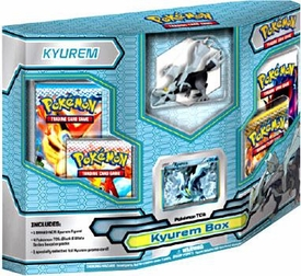 Pokemon Black & White Card Game Kyurem Box [4 Booster Packs, 1 Holo Promo Card & 1 Legendary Figure]