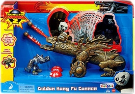 Kung Fu Panda 2 Exclusive Playset Golden Kung Fu Cannon [Includes Wolf Warrior Figure]