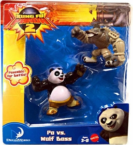 Kung Fu Panda 2 Mini Figure 2-Pack Po vs. Wolf Boss