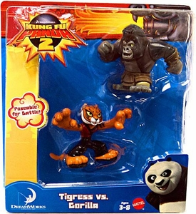 Kung Fu Panda 2 Mini Figure 2-Pack Tigress vs. Gorilla