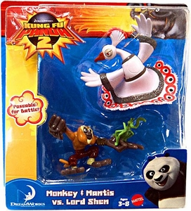 Kung Fu Panda 2 Mini Figure 2-Pack Monkey & Mantis vs. Lord Shen